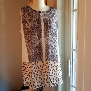 Cabi sheer lined summer top